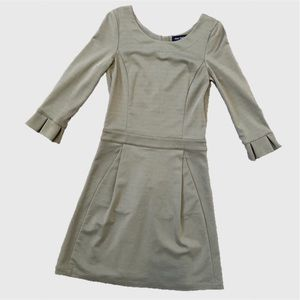Pink Tartan Sage Green 3/4 Sleeve Dress sz XS
